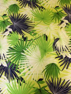Tropical palm loveliness - vintage fabric