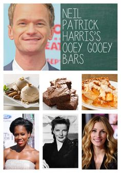 15 Celebrity Dessert Recipes From Some of Our Favorite Stars Unique Desserts, Fall Desserts, Just Desserts, Delicious Desserts, Dessert Recipes, Chef Recipes, Kitchen Recipes, Sweet Recipes, Ooey Gooey Bars