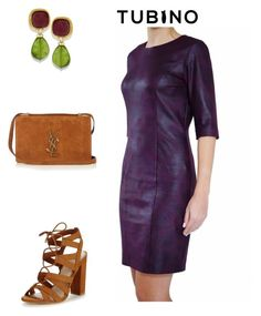 Burgundy dress by tubino-skirts-dresses on Polyvore featuring mode, Lipsy and Yves Saint Laurent