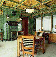 Unique Architecture, Interior Architecture, Küchen Design, House Design, Cosy Fireplace, Classic Ceiling, 1920s House, Art Deco Furniture, Interior Inspiration