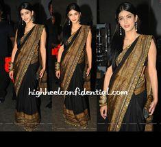 Sruthi Hassan in Sabyasachi Sabyasachi Sarees, Bollywood Fashion, Bollywood Style, Wedding Saree Collection, Indian Attire, Beautiful Saree, Saree Wedding, Indian Dresses, Style Icons