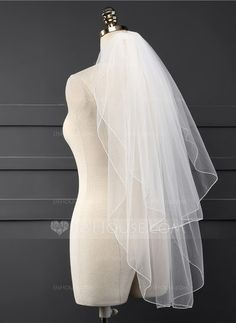 [US$ 5.99] Two-tier Scalloped Edge Waltz Bridal Veils (006114028)