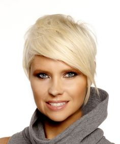 Short Pixie Hairstyle - Straight Formal - Light Blonde | TheHairStyler.com