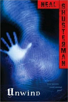 Unwind by Neal Shusterman.  This was a great book. I'd recommend it to any fans of books like The Hunger Games. Looking forward to the second book, Unwholly, said to be coming out in late August!