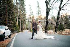 yosemite wedding - I can picture a certain black camaro on the side... :)
