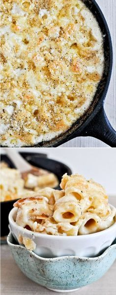 4 Cheese Skillet Mac and Cheese I howsweeteats.com
