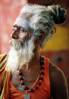 Portrait of a Sadhu (holy man), Rajasthan, India