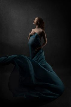 Flowing Chirron material shot in the studio with 2 lights and a grey backdrop. of chiffon was used with a fan and an assistant to throw the materials into a nice shape West London, Maternity Photographer, Ball Gowns, Pregnancy, Chiffon, Fan, Lights, Shape, Studio