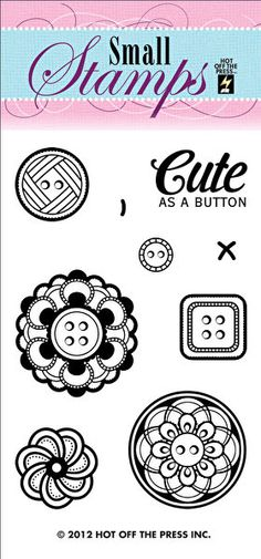 Buttons Small Stamp by Hot Off The Press Inc (1099)