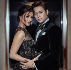 LizQuen on Star Magic Ball 2017 Celebrity Couples, Celebrity Weddings, Star Magic Ball, Lisa Soberano, Hair Clay, Enrique Gil, Senior Prom, Beautiful Family, Couple Pictures