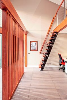 Recycled timber screen and stair detail in Riverview