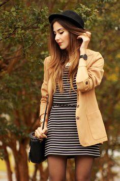 Casaco longo com vestido/ saia