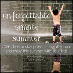 I LOVE these ideas for a simple and fun summer with the kids!