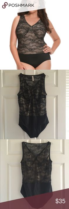 Cacique by Lane Bryant Bodysuit 18/20 Cacique by Lane Bryant 18/20 plus size 2x Never worn/ no tag    Offering an extra layer of smoothing support. Sleeveless bodysuit wears beautifully under all your favorite outfits. From the soft cups (no wire) to the sheer lace back, this sleek piece offers a full coverage smoothing without compression. Full coverage panty with cotton gusset and easy-open snap closure.    Low balls will be ignored. Items are priced to sell with very little wiggle room…