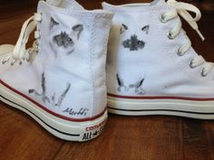 Hand Painted Shoe - Siamese Cat Hand Painted High Top Converse Custom Converse, Converse Shoes, Cat Shoes, Hand Painted Shoes, Siamese Cat, Slipper Boots, Custom Canvas, Crazy Cat Lady, All Star