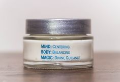 """The perfect body moisturizer. This rich, thick creme is """"Divine"""" in more ways than one.     Handcrafted with soothing oils, nut butters and an added positive energy charged gem elixir, it softens your skin and ushers in Divine Guidance. With a blend of specific essential oils, Centering count..."""