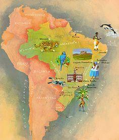 Kapitan Kamikaze - Map of Brazil