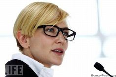 Cate Blanchet- one of my very favorite actresses and I want those glasses!