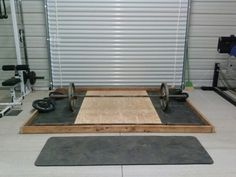 Need a dedicated dead lifting spot