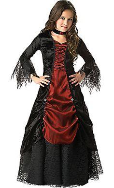 Mini Vamp Cape-Fancy Dress Halloween vampire rouge femme col Costume Noir