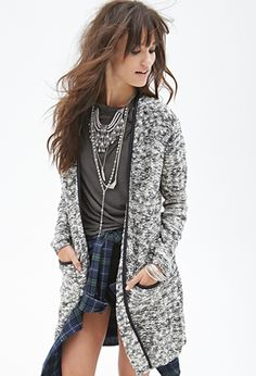 Faux Leather-Trimmed Cardigan   FOREVER21 - perfect everydayer!