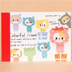 kawaii bears in costumes mini Memo Pad  2