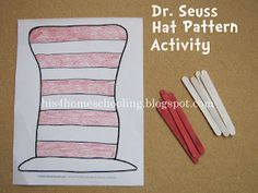 Seuss hat pattern activity ~ uses A to Z's free printable :) Best Picture For dr seuss preschool Preschool Quotes, Preschool Curriculum, Preschool Themes, Preschool Printables, Classroom Activities, Book Activities, Preschool Crafts, Homeschooling, Classroom Ideas