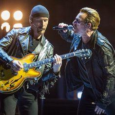 #TheEdge & #Bono last night in Montreal #U2ieTour #U2 @U2 (ph. dario Ayala / Montreal Gazette)