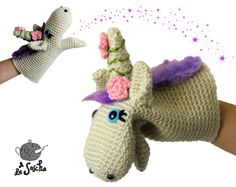 Unicorn Puppet crochet pdf pattern