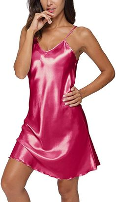 Satin Nightie, Satin Lingerie, Nightgown, Girly Outfits, Sexy Outfits, Night Gown Dress, Look Rose, Babydoll Nightwear, Satin Blouses
