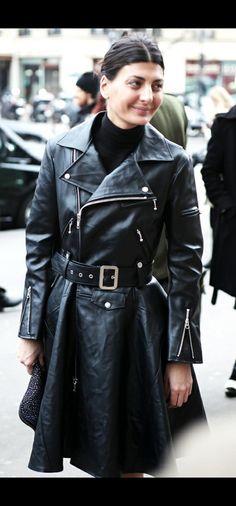 Leather Skirt, Leather Jacket, Polo Neck, Leather Coats, Skirts, Jackets, Fashion, Studded Leather Jacket, Moda