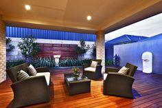 Beautiful wooden deck alfresco area