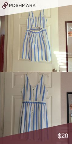 NWT Forever 21 Striped Cutout Dress Blue and white striped dress with side and back cutouts. Never been worn and NWT. Forever 21 Dresses Mini