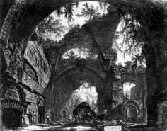 Ruined Gallery of the Villa Adriana at Tivoli by Giovanni Battista Piranesi