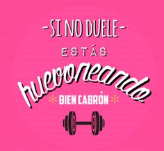 Si no duele, estas huevoneando bien cabrón. - Tap the pin if you love super heroes too! Cause guess what? you will LOVE these super hero fitness shirts! Frases Fitness, Fitness Quotes, Workout Memes, Gym Workouts, Gym Hours, Reto Fitness, Fit Girl Motivation, Exercise Motivation, Crossfit Gym