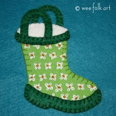 Rain Boot Applique Block | Wee Folk Art