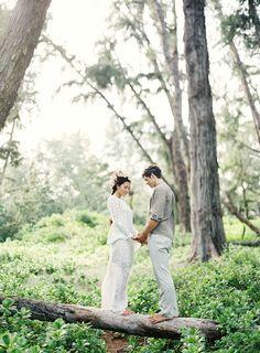 Boho wedding ceremony ⎪ Matthew Ree Photography ⎪ see more on:  http://burnettsboards.com/2015/04/bohemian-beach-wedding-flower-mohawk/