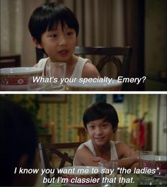 Fresh Off The Boat- this show is hilarious and the little brothers are my favorites Best Cousin Quotes, Brother Quotes, Daughter Quotes, Father Daughter, Family Quotes, Quotes Quotes, Fresh Off The Boat, Little Brothers, Comedy Series