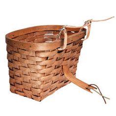 Handwoven Ash Bicycle Basket