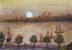 İstanbul, 35x50, oil&canvas, #gurseltokmakoglu #artist #artworks #art #sanat #paint #tablo #yağlıboya #istanbul #oiloncanvas #plain #landscape #paintings  #finearts #paintworks #original #oilpaintings