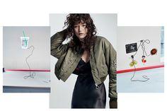 Mona Matsuoka wears jacket Pose in portrait Photoshoot