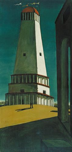 Giorgio de Chirico, The Nostalgia of the Infinite, 1912-13, Oil on canvas, The Museum of Modern Art: Painting and Sculpture