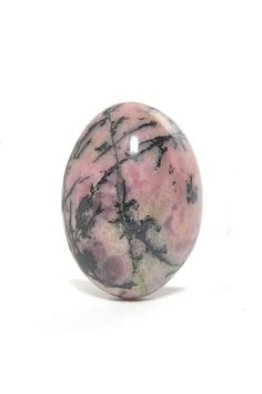 Graphic Pink Rhodonite Cabochon 125 carats  Free by FenderMinerals,