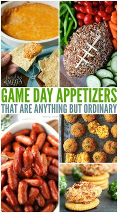 Are you ready for the big game day? Super Bowl is right around the corner and it is time to prepare! Here are The Best Game Day Appetizers around! Game Day Appetizers, Game Day Snacks, Game Day Food, Party Snacks, Appetizers Superbowl, Holiday Appetizers, Holiday Foods, Healthy Superbowl Snacks, Healthy Appetizers
