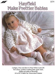Knit Baby Cardigan and Booties Vintage Pattern toddler knitting pullover top cable retro clothes girl boy aran jumper pdf digital download