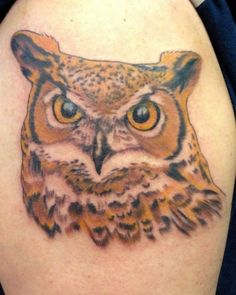 Great Horned Owl piece I found. Beautiful job.  Dutch Cooke, Immortal Ink