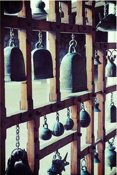 Close up of bells display