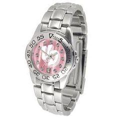 University of Dayton Flyers Ladies Pink Designer Dress Watch