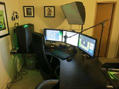 updated my dual battlestations and wow what a difference a monitor mount makes kaans zimmer. Black Bedroom Furniture Sets. Home Design Ideas