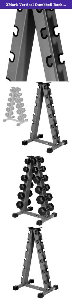XMark Vertical Dumbbell Rack XM-3104. XMark Vertical Dumbbell Rack XM-3104 XMark's Vertical Dumbbell Rack stores up to six pair, 350 lbs., of round or hex dumbbells. The stable frame will help you maintain a cleaner home gym environment by providing a spot to park your dumbbells when they are not in use. The XMark XM-3104 is constructed of heavy duty 14-gauge steel. The time is now to make this outstanding equipment your own and transform that home gym into all it can be. Experience the...